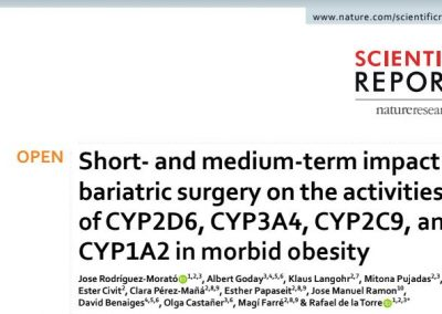 Short- And Medium-Term Impact of Bariatric Surgery on the Activities of CYP2D6, CYP3A4, CYP2C9, and CYP1A2 in Morbid Obesity