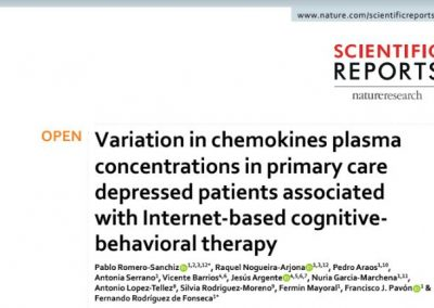Variation in chemokines plasma concentrations in primary care depressed patients associated with Internet-based cognitive-behavioral therapy