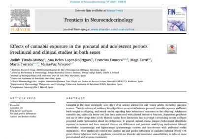 Effects of cannabis exposure in the prenatal and adolescent periods: Preclinical and clinical studies in both sexes