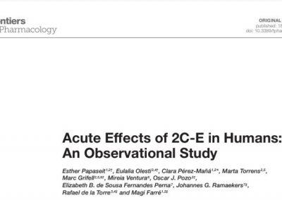 Acute Effects of 2C-E in Humans: An Observational Study