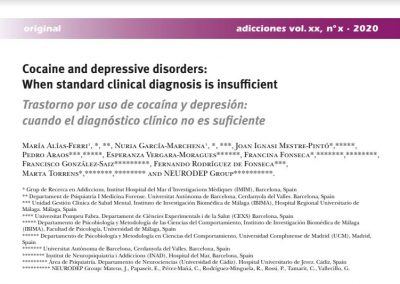 Cocaine and depressive disorders: When standard clinical diagnosis is insufficient