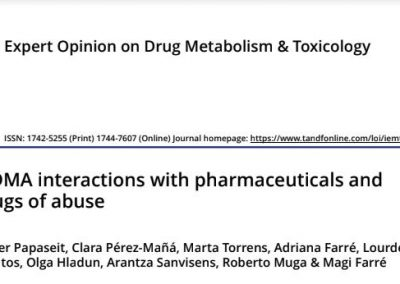 MDMA interactions with pharmaceuticals and drugs of abuse