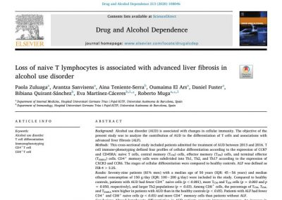 Loss of naive T lymphocytes is associated with advanced liver fibrosis in alcohol use disorder
